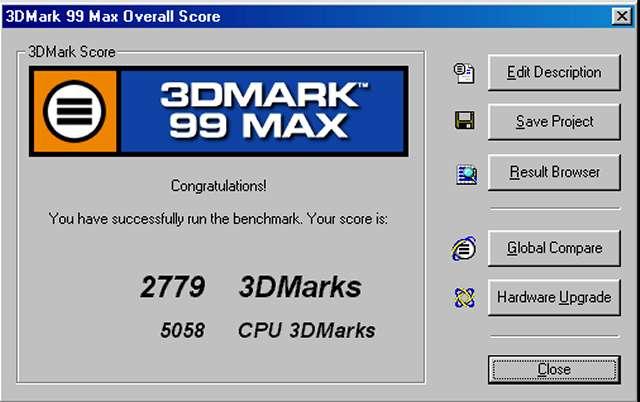 3D Mark 99 Max